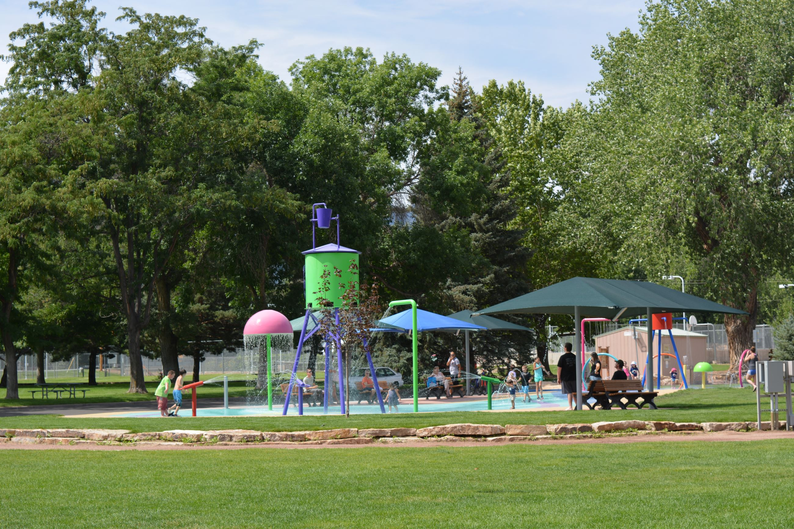 Splash Pad and Park Area