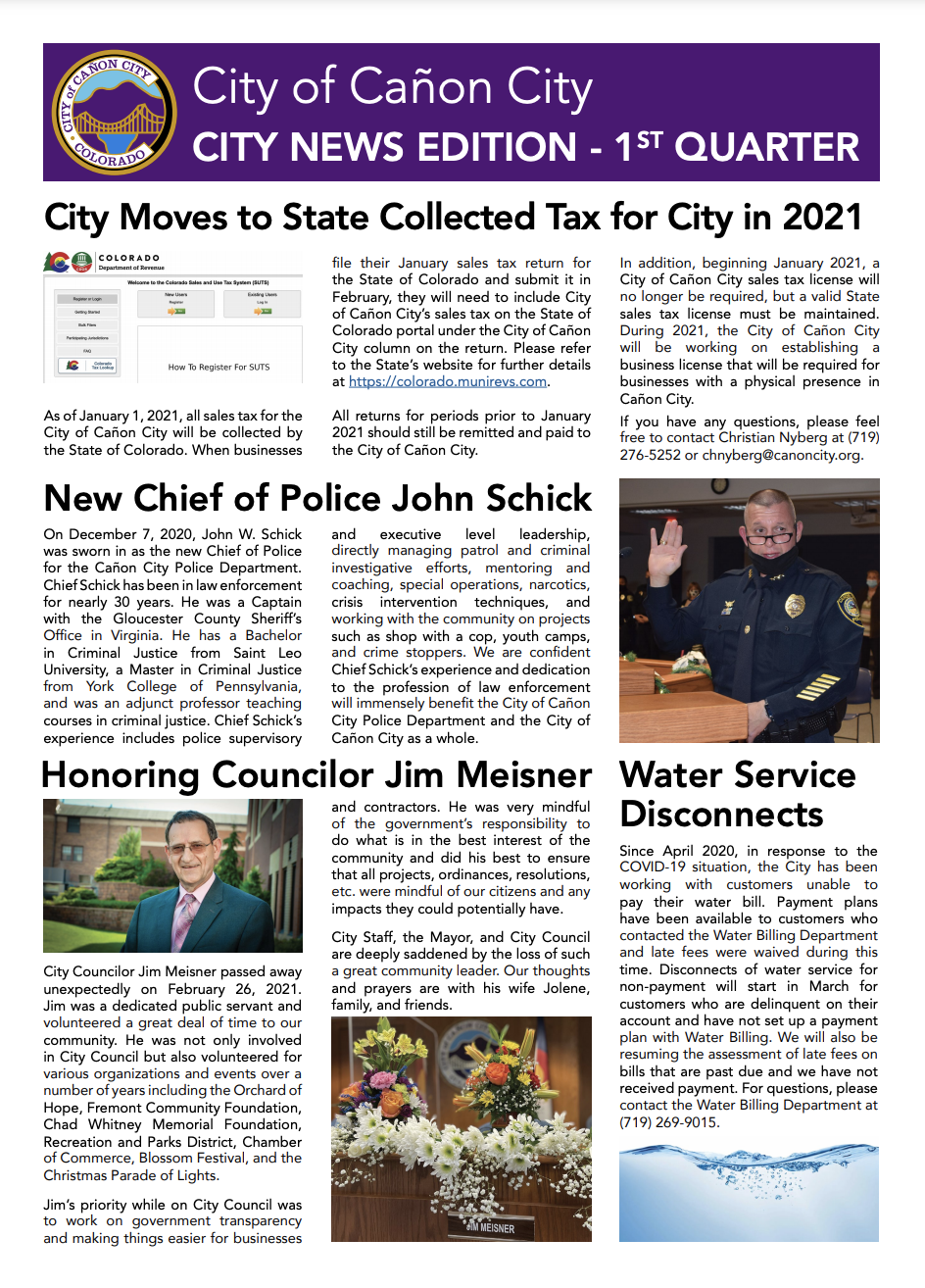 City News Edition First Page