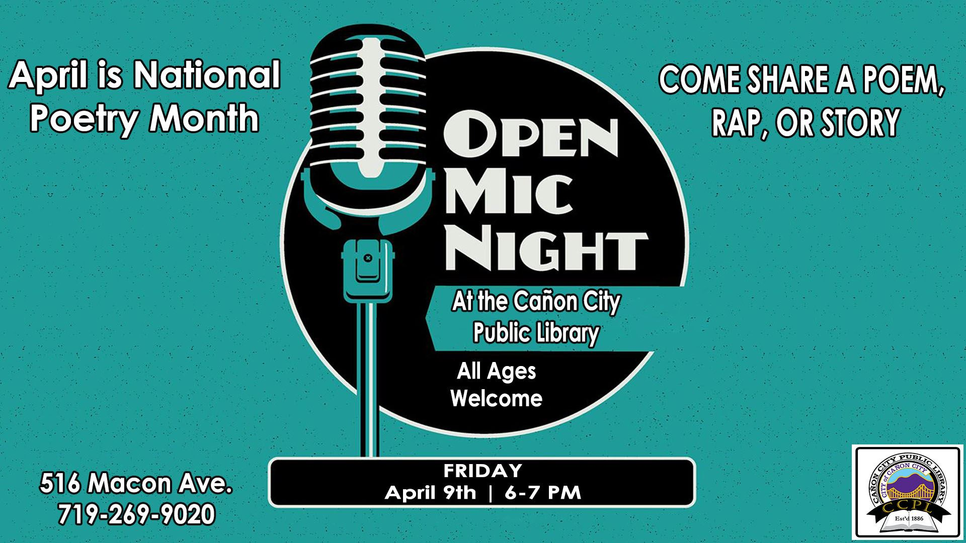 Poetry Open Mic Web 2021