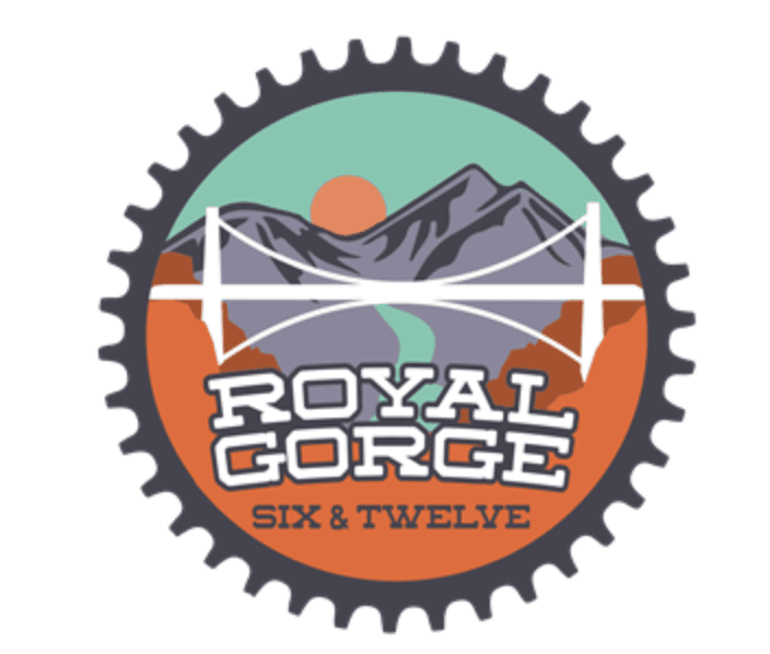 Royal Gorge 6 and 12 Bike Race Logo
